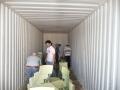Llenando el contenedor