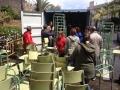 Llenando el contenedor para Kenia